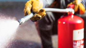 Fire extinguisher test