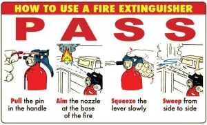 PASS Fire Extinguisher Usage