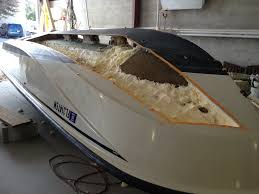 Repairing a Boston Whaler hull out of the water