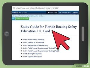 Online boating license course