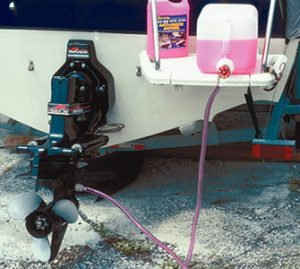 Outboard flushing