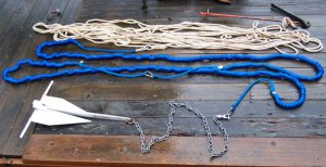 anchor line and chain