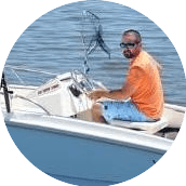 Me on my boat