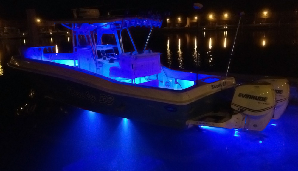 How much does it cost to outfit a boat with LED lights
