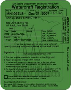 MN Registration Card