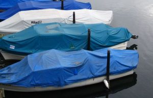 Winterize Boat in water with Tarp