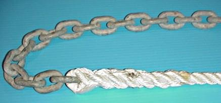 rope to chain splice